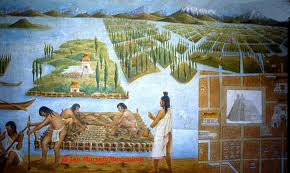 The chinampas system was extensive, these floating gardens were responsible for helping feed the Aztec nation.