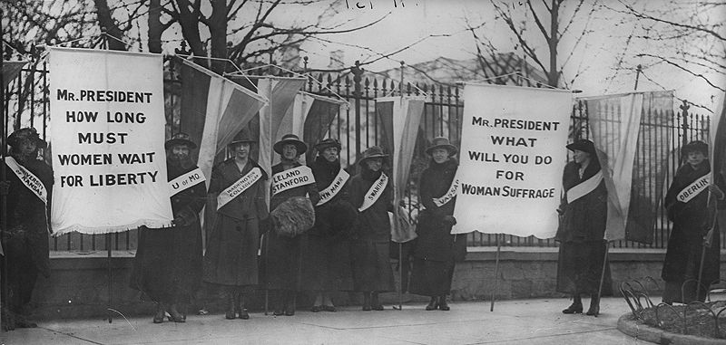 The history of womens suffrage movement in america