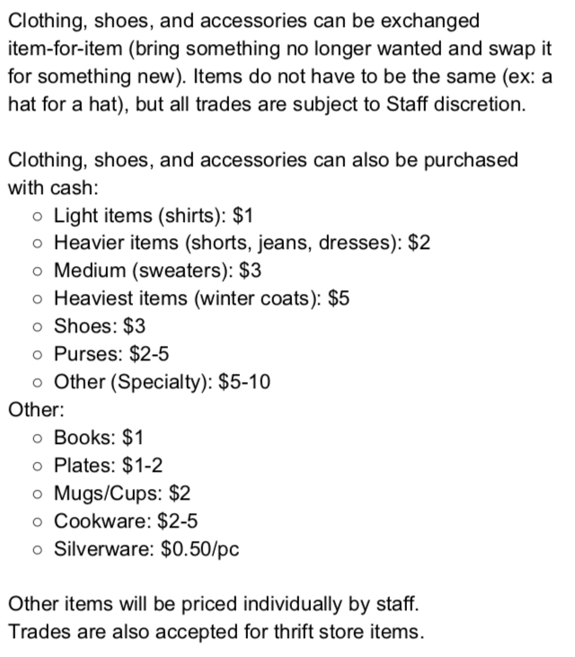 Check Out Our Prices