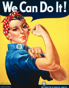 """We Can Do It"" made as an inspirational image to boost worker morale (1)."
